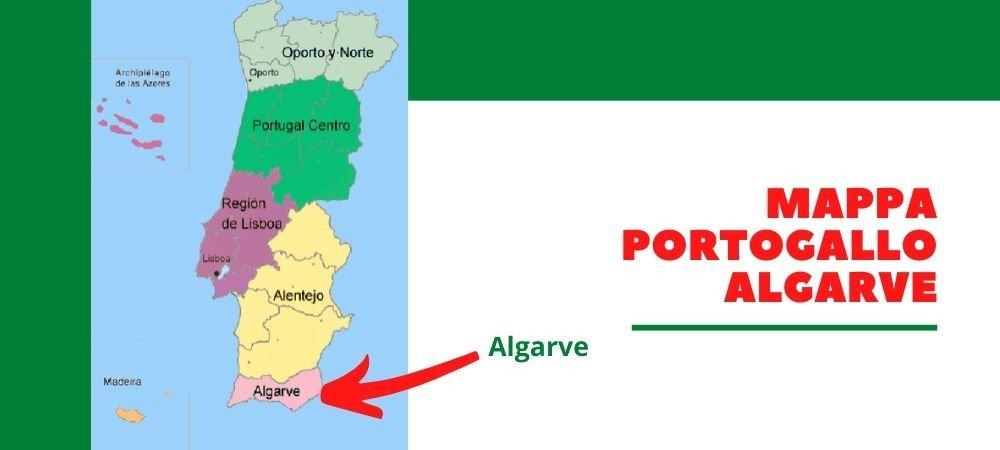mappa portogallo algarve