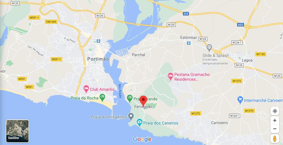mappa di ferragudo