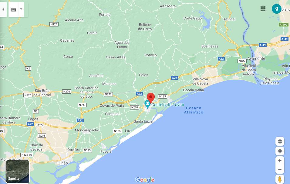 Mappa di Tavira Algarve-min
